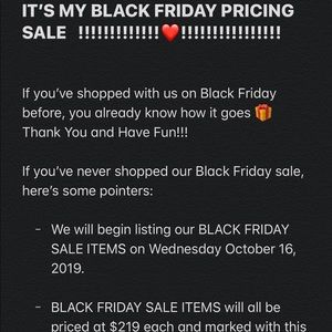 🎁BLACK FRIDAY PRICING SALE COMING SOON🎁